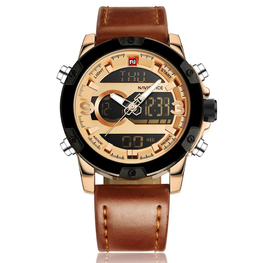 NAVIFORCE Luxury Brand Sport Watches Men Quartz navi force 2018 Leather Clock Man Watch Military Watch Relogio Masculino seet