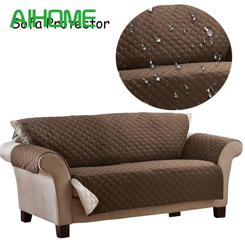 Waterproof Sofa Cover 100% Polyester Anti-skid Dirt-proof Sofa Protector Suede Pet Dog Cushion Mat Sofa Slip Covers