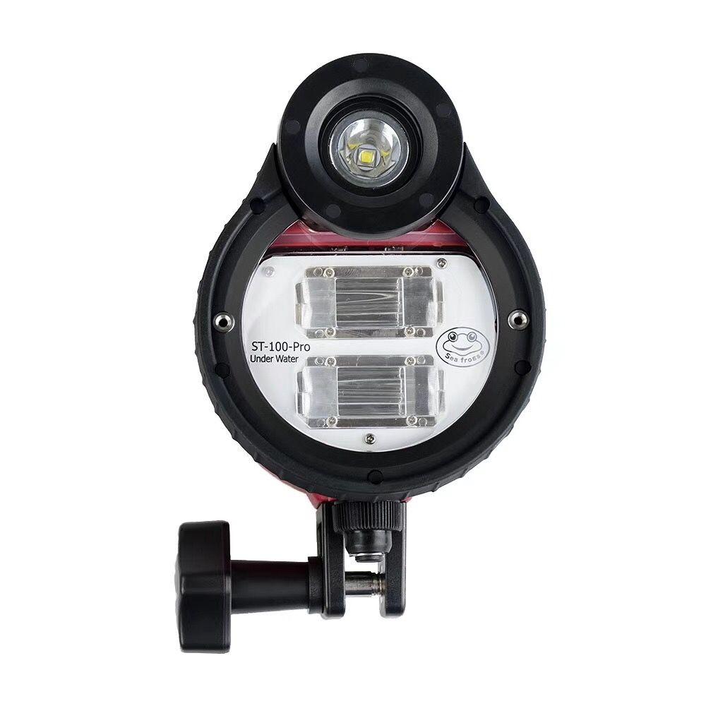SeaFrogs ST-100 Pro Wasserdicht Flash strobe für A6500 A6000 A7 II RX100 I/II/III/IV/ V unterwasser Kamera Gehäuse Tauchen Fall