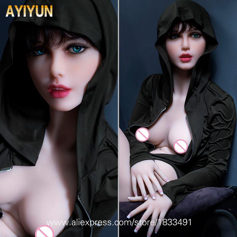 AYIYUN Top Qualität Silikon Sex Puppen mit Metall Skeleton, Volle Größe Liebe Puppen, japanese Sex Puppe Vagina Sexy Puppen für Männer
