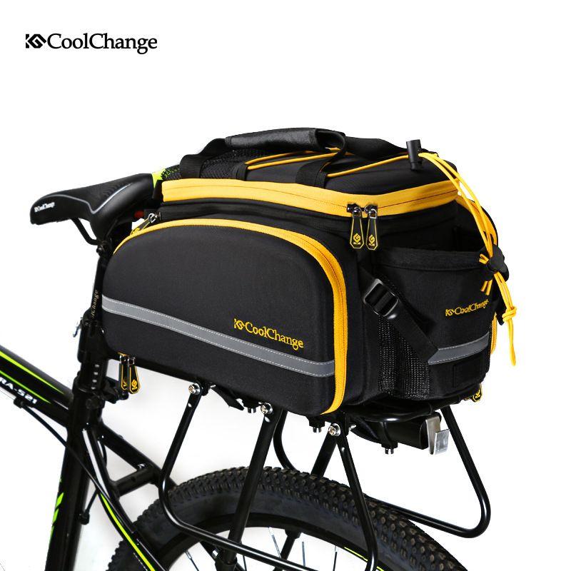 CoolChange Fahrrad Tasche Reflective Fahrrad Rear Seat Trunk Bag Radfahren Tragetasche Rack Packtaschen Wasserdichte Mit Regen Abdeckung