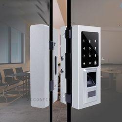 DIY Sidik Jari & RFID kunci pintu Digital dengan layar sentuh & password kunci elektronik sensor untuk kantor dan apartemen