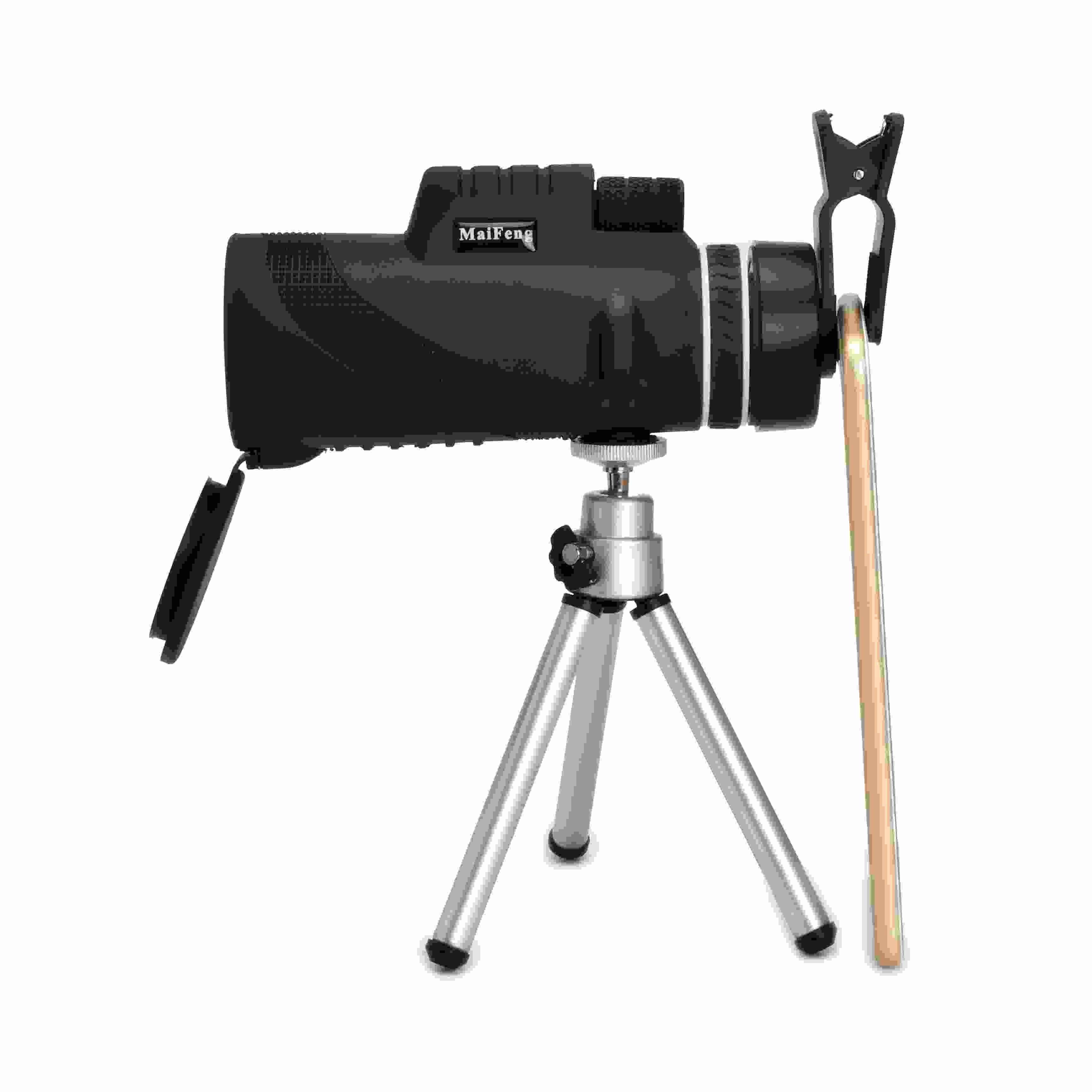 Neue ankunft 40X Vergrößerung Zoom-teleskop Fernrohr Optisches Spektiv für Handy mit Stativ Clip