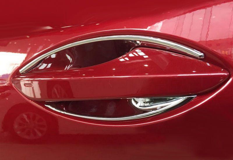 Chromed ABS Plastic 4PCS Door Handle Cover Bowl Protector Trim For LEXUS RX200T RX450H 2016