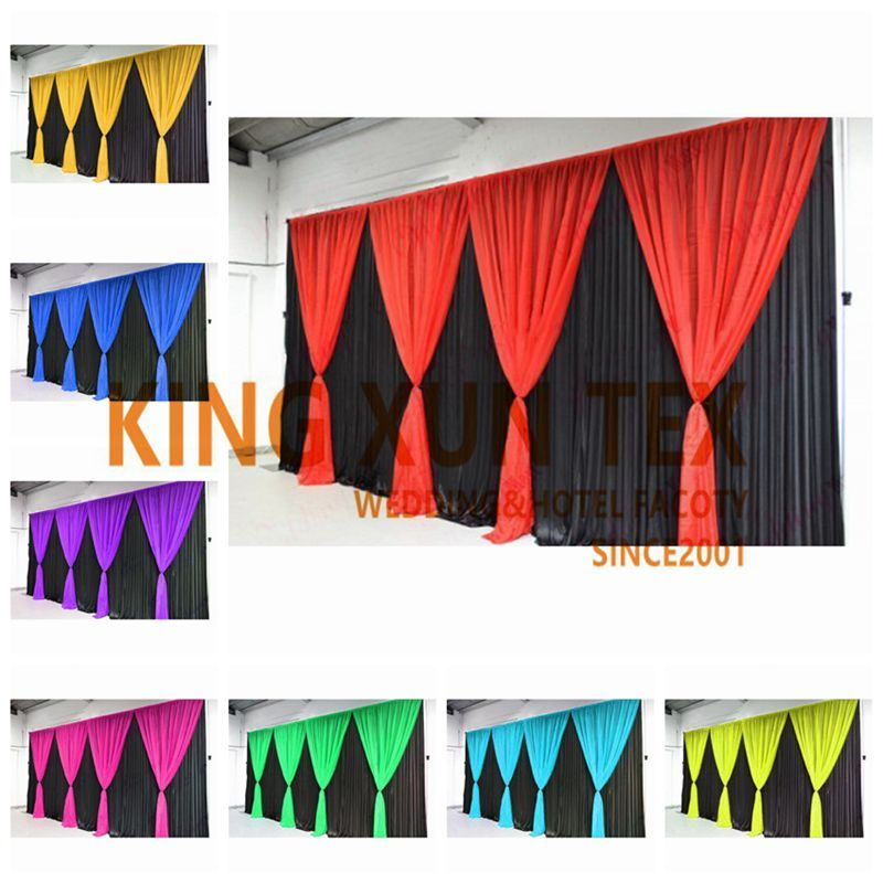 Black Color Wedding Backdrop Curtain With Colors Drape For Event Wedding Decoration