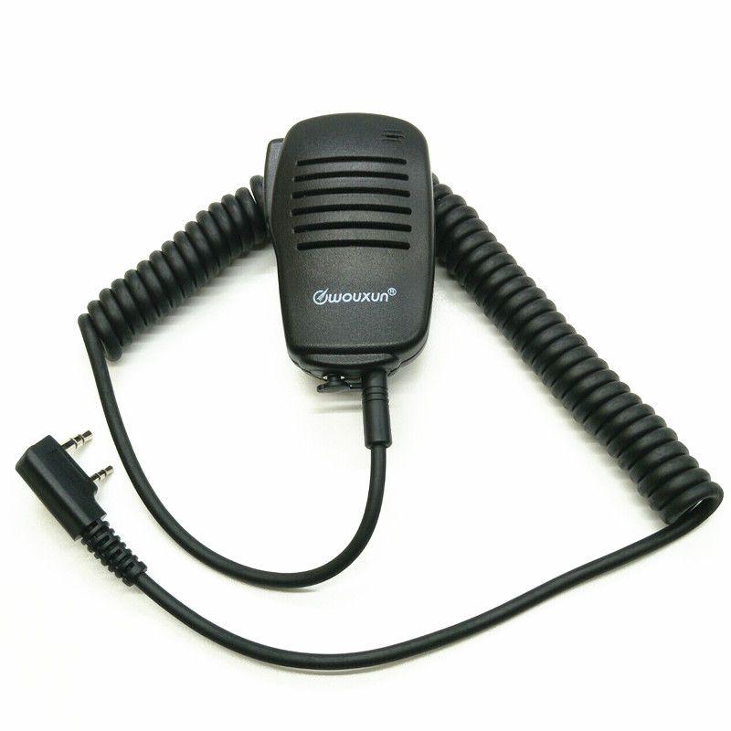 OPPXUN Walkie Talkie PTT Speaker Mic Microphone For TK2107 TK3107 TK278 BAOFENG UV-5R UV-82 Puxing PX-888K Wouxun KG-UVD1P TYT