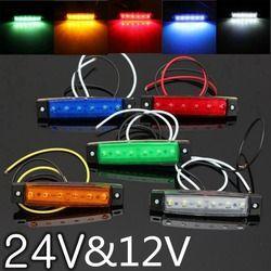Внешние автомобильные огни DC светодиодный 24V 6 Автомобильный светодиодный SMD легковой автомобиль автобус грузовик боковой индикатор отметк...