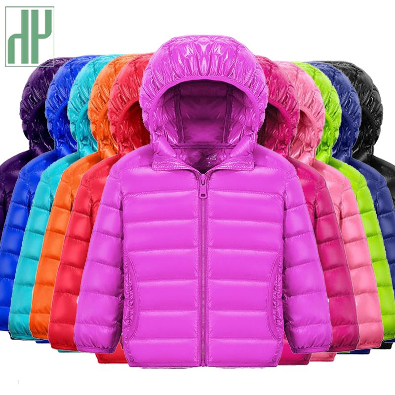 HH children jacket Outerwear Boy and Girl autumn Warm Down <font><b>Hooded</b></font> Coat teenage parka kids winter jacket 2-13 years Dropshipping
