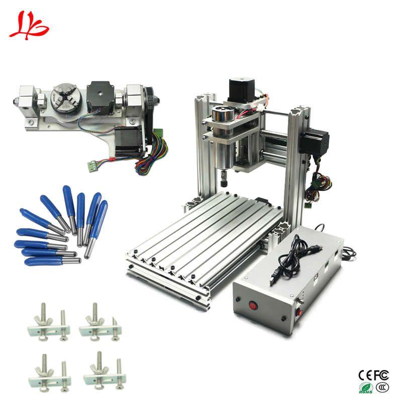 Mini CNC fräsen gravur maschine 3020 5 achse USB port pcb holz aluminium carving router