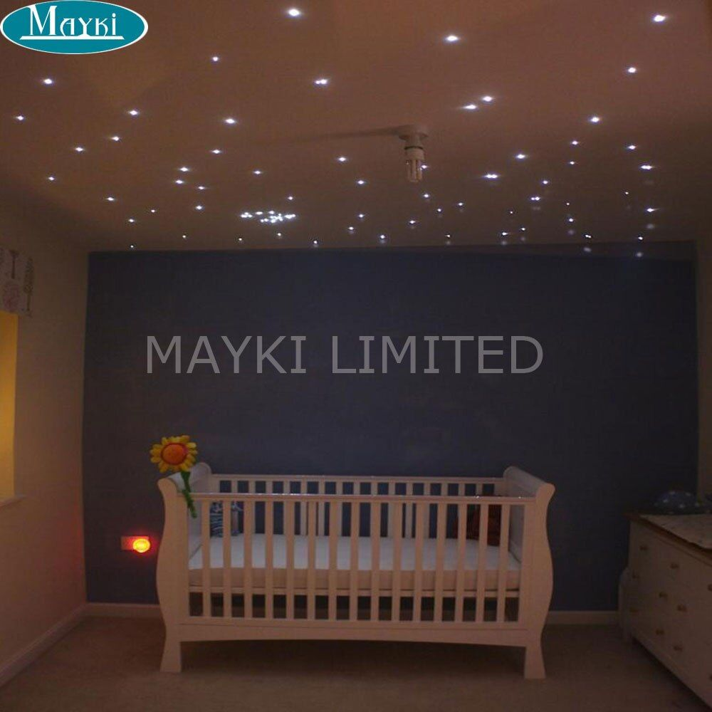 Maykit Color Changing Fibre Optic Led Lighting Engine With RF Remote Control 16W RGBW Led Illuminator Suitable For Sensory Room
