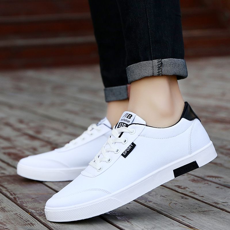 In The Summer Of 2017 Flat Shoes Casual All-match White Men's Breathable TrendBreathable small white shoe flat casual men's shoe