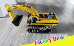 Teknik Bermotor Excavator Blok Bangunan dengan Motor Listrik Fungsi Daya Batu Bata Kompatibel 8043