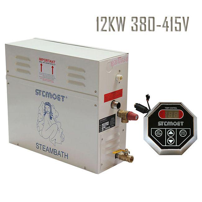 Free shipping Ecnomic type 12KW 380-415V Steam Generator Shower Multi-functional Sauna Bath Home Spa Steamer steam accessories