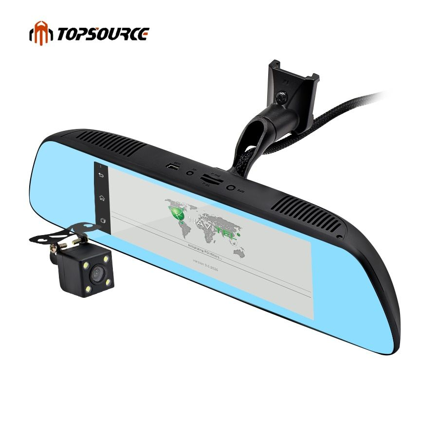 TOPSOURCE New 7 Special 3G CAR Mirror Rearview Car DVR Camera DVRs Android 5.0 With GPS Navigation Automoblie Video Recorder
