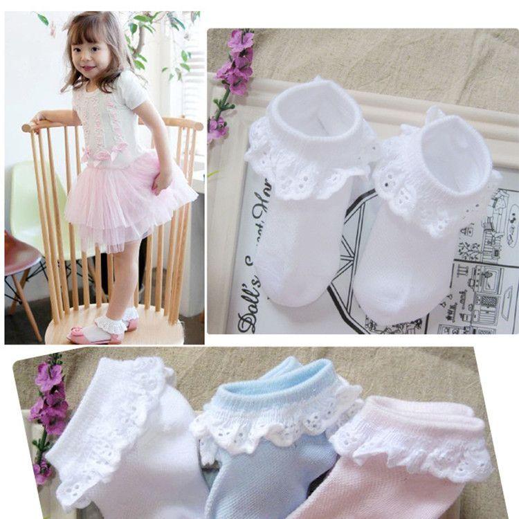 NEW QA8-01-QA8-24 autumn baby <font><b>girl</b></font> lace socks cotton toddler soks children accessories 2018 hot sale newest
