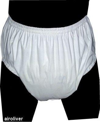 Livraison Gratuite FUUBUU2209-WHITE Tirer Sur Incontinence Plastique Pantalon pantalon Adultes Mineur l'incontinence ABDL