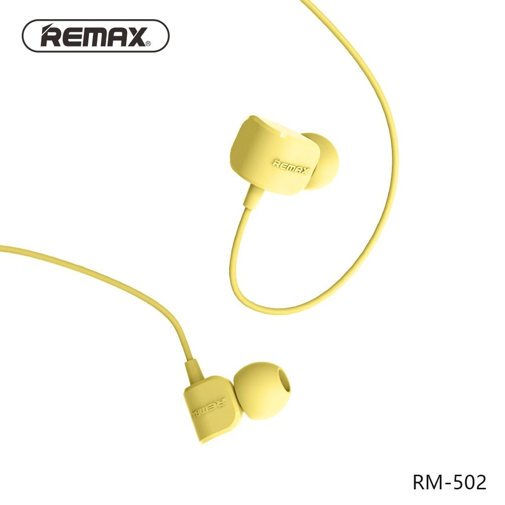 REMAX RM502 wired Clear Stereo earphones with HD Microphone angle in-ear earphone Noise isolating earhuds for mp3/iphone/xiaomi