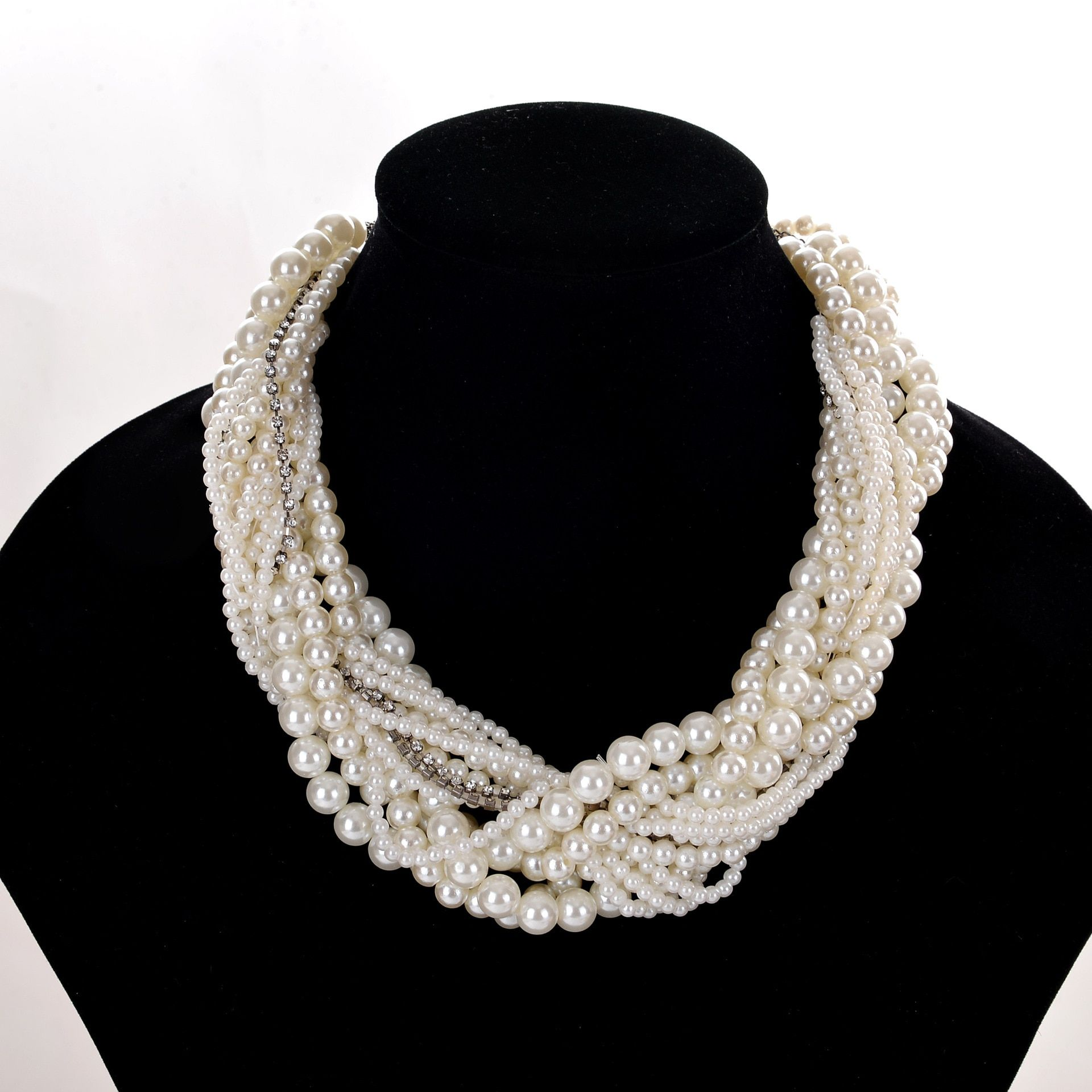 2017 Time-limited Round Collares Maxi Necklace Collier New Fashion Europe And The Big Name Of Old Pearl Necklace Cz90023