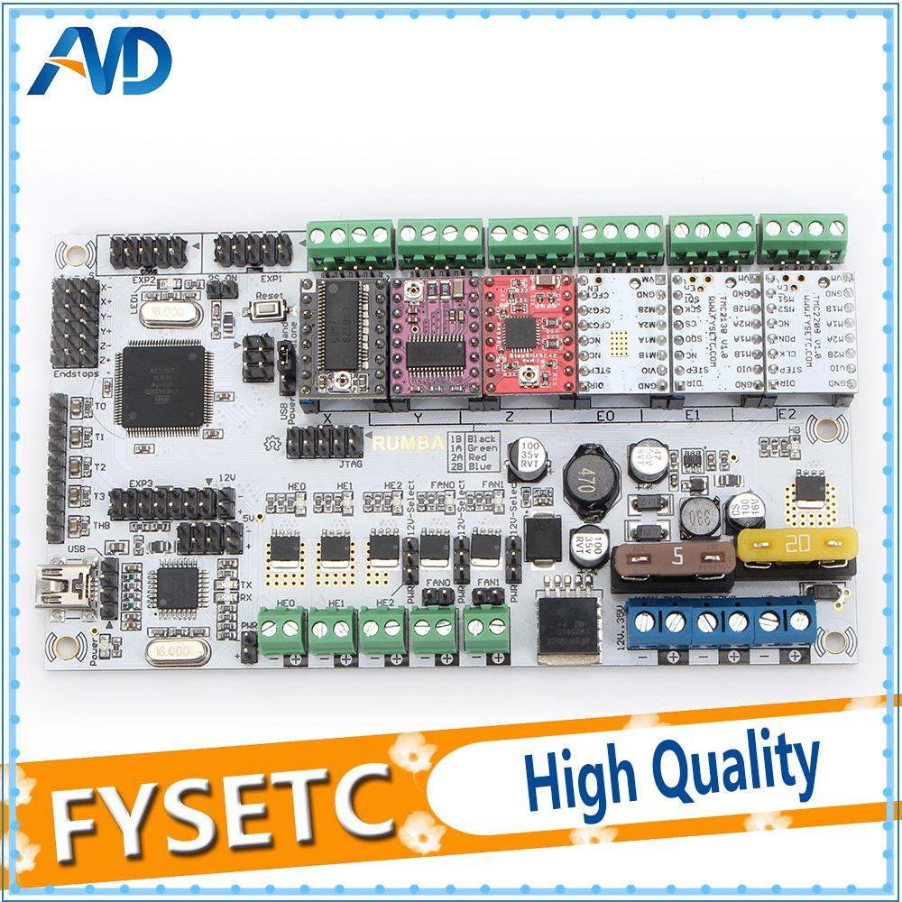 Rumba Plus Motherboard 2560 R3 Processor Upgrade Rumba+ Control Board With 6pcs TMC2100/TMC2208/TMC2130/A4988/DRV8825 Drivers