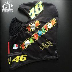 Gpfortysix motocicleta Cara máscara Cap balaclava VR46 motocross mantenga ciclismo Cara máscara de color negro para Valentino Rossi 46