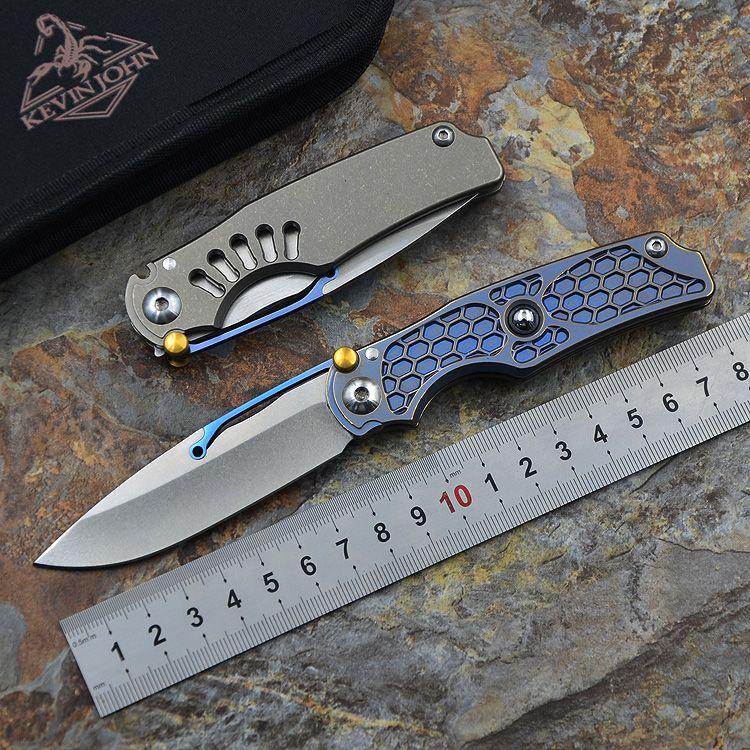 Kevin john NEUE Tilock klappmesser hohe qualität outdoor messer Titan griff M390 tasche Messer überleben Taktische EDC werkzeuge