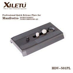 XILETU HDV-501PL Rapid Sliding Mounting Bracket Quick Release Plate For Manfrotto 501HDV 503HDV 701HDV MH055M0-Q5