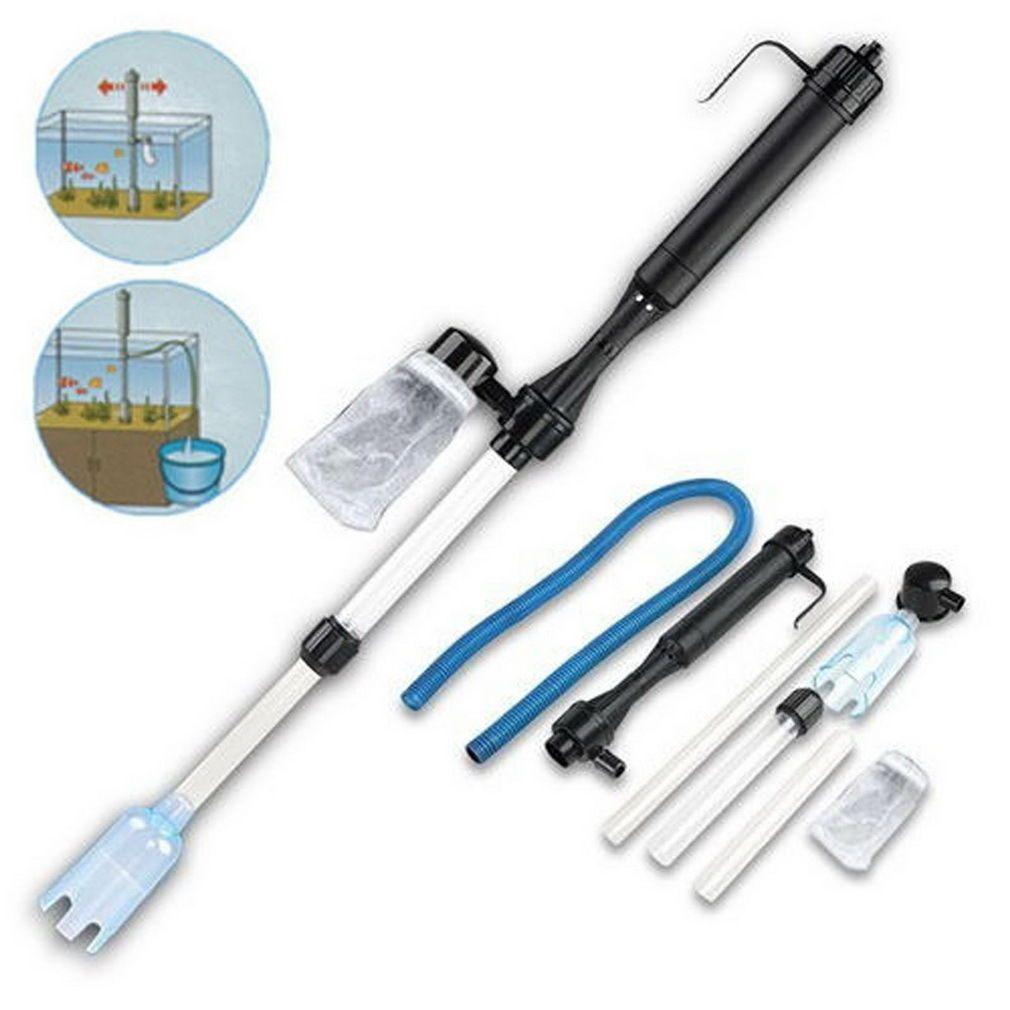 Aspirateur poisson Siphon réservoir eau Aquarium batterie filtre propre Siphon filtre poissons Aquarium outils gravier ensemble tuyau nettoyeur pompe