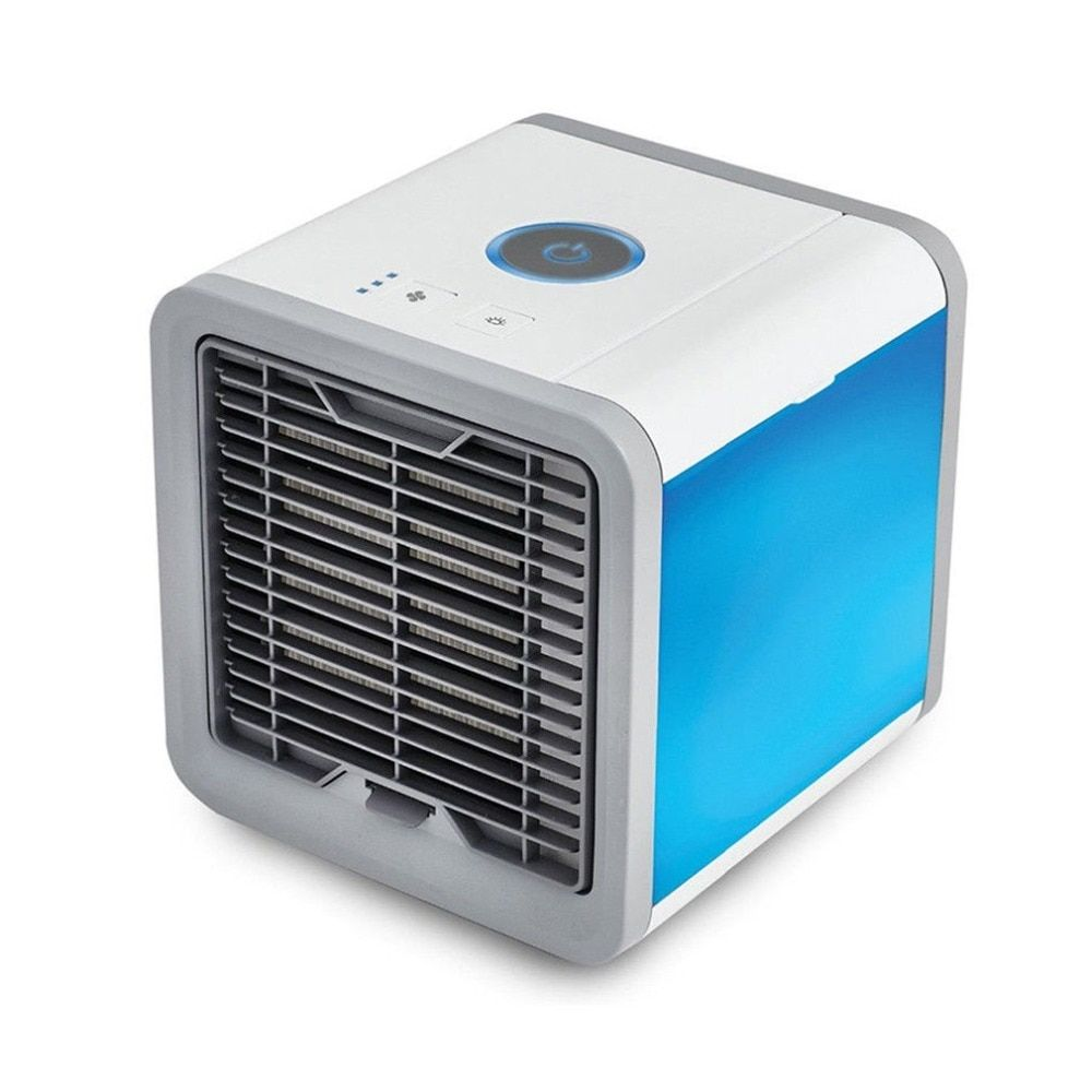 Portable Mini Air Conditioner Air Cooling Fan With 7 Colors LED Lights USB Air Cooler Fan Humidifier Purifier for Home Office
