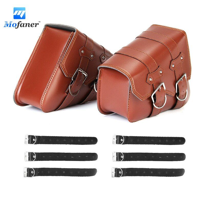 2Pieces Retro Motorcycle Saddlebags Motorbike Tool Bag Side L+R Storage For Harley-Sportster XL883 XL1200