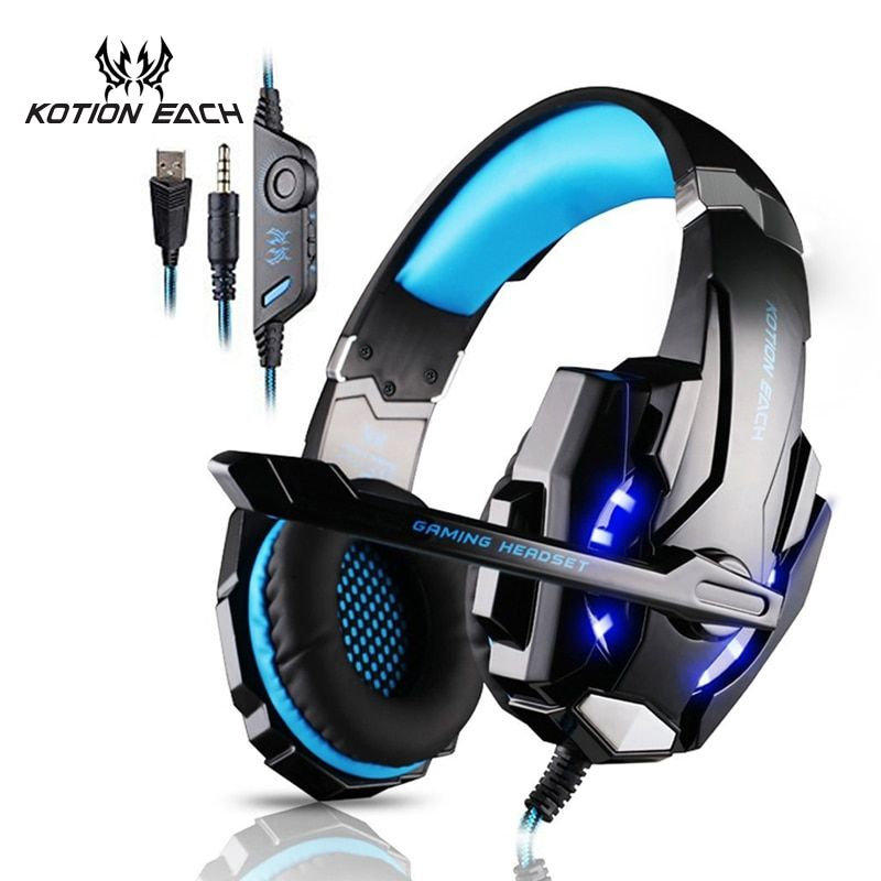 KOTION EACH Gaming headphone Earphone Gaming Headset Headphone Xbox One Headset with microphone for pc ps4 playstation 4 laptop