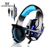 KOTION cada auricular para juegos auriculares para Gaming auriculares Xbox One auriculares con micrófono para pc ps4 playstation 4 laptop
