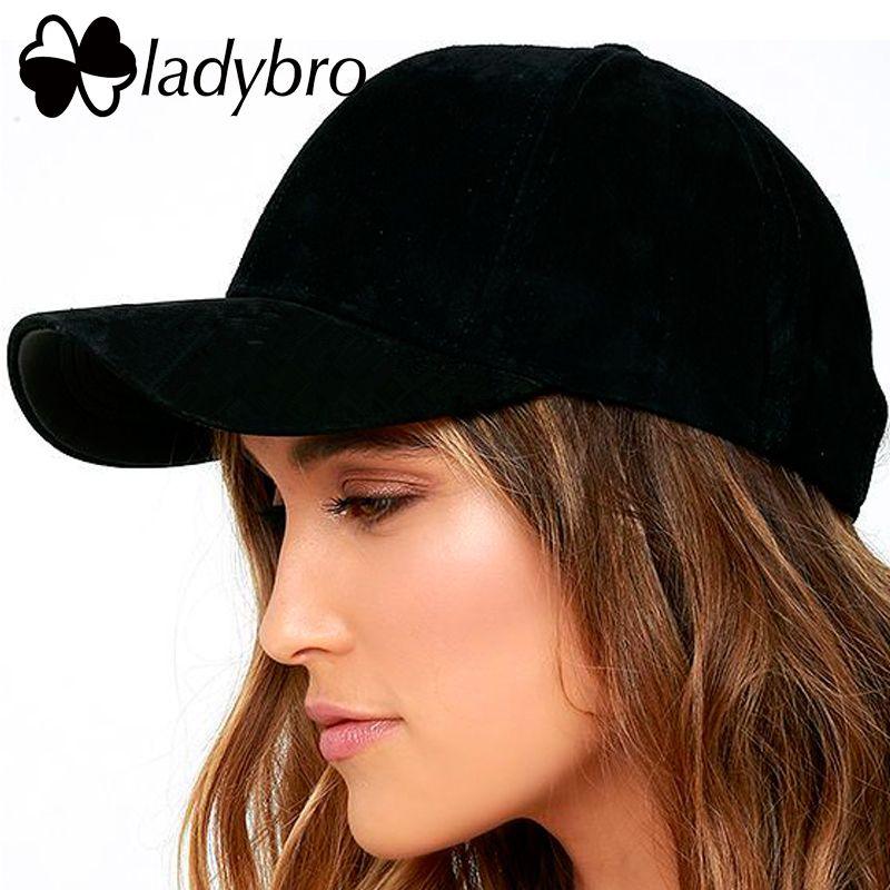 Ladybro haute qualité femmes papa chapeau casquette de Baseball hommes chapeau casquette rose chapeau mode velours côtelé décontracté unisexe noir Snapback casquette femme