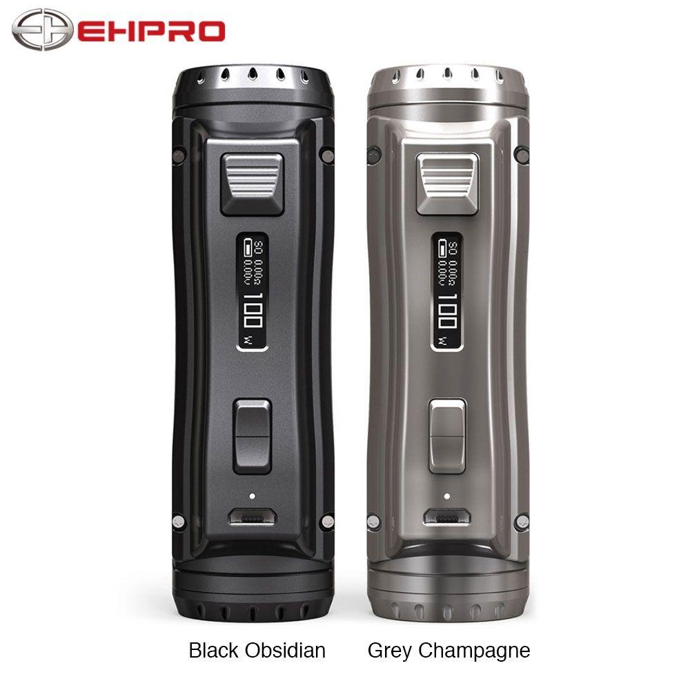 Original Ehpro acier froid 100 120W TC Box MOD avec 0.0018S vitesse de cuisson ultra-rapide et mise à jour logicielle en ligne vs OBS Cube/glisser 2