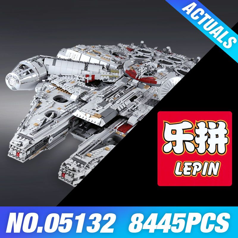 Lepin 05132 Star&Wars Ultimate Collector's Millennium Falcon Model Destroyer Building Blocks Bricks Toys Compatible 75192 Gifts