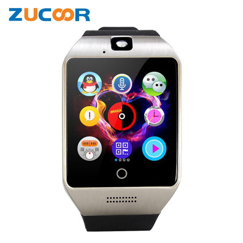 Q18 Bluetooth Intelligente Armbanduhr Telefon Q18S Mit Kamera TF SD Sim-karten-slot Schlaf-monitor Sitzende Erinnerung Rekord Für Android