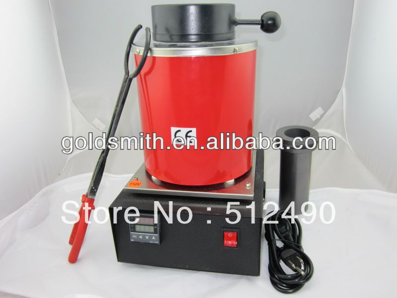 High-temperature Small Melting Furnaces, Gold Melting Furnace with 2kg Graphite Crucible 220v