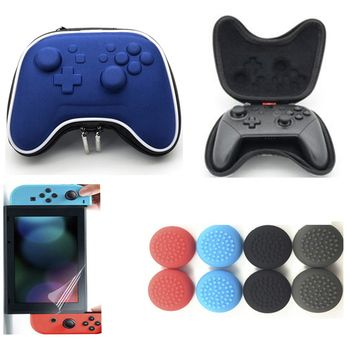 Eva Airform Hard Shell Pouch Case Sleeve Protective Game Carrying Storage Travel bag for Nintend Switch NS Pro Controller + Film