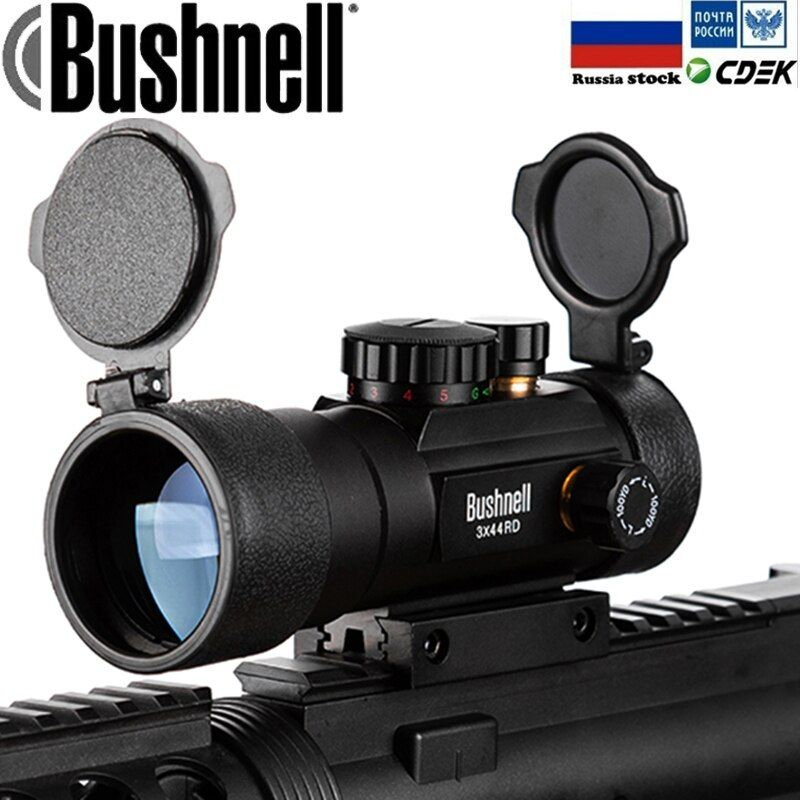 3X44 Green Red Dot Sight Scope Tactical Optics Riflescope Fit 11/20mm rail Rifle Scopes for Hunting