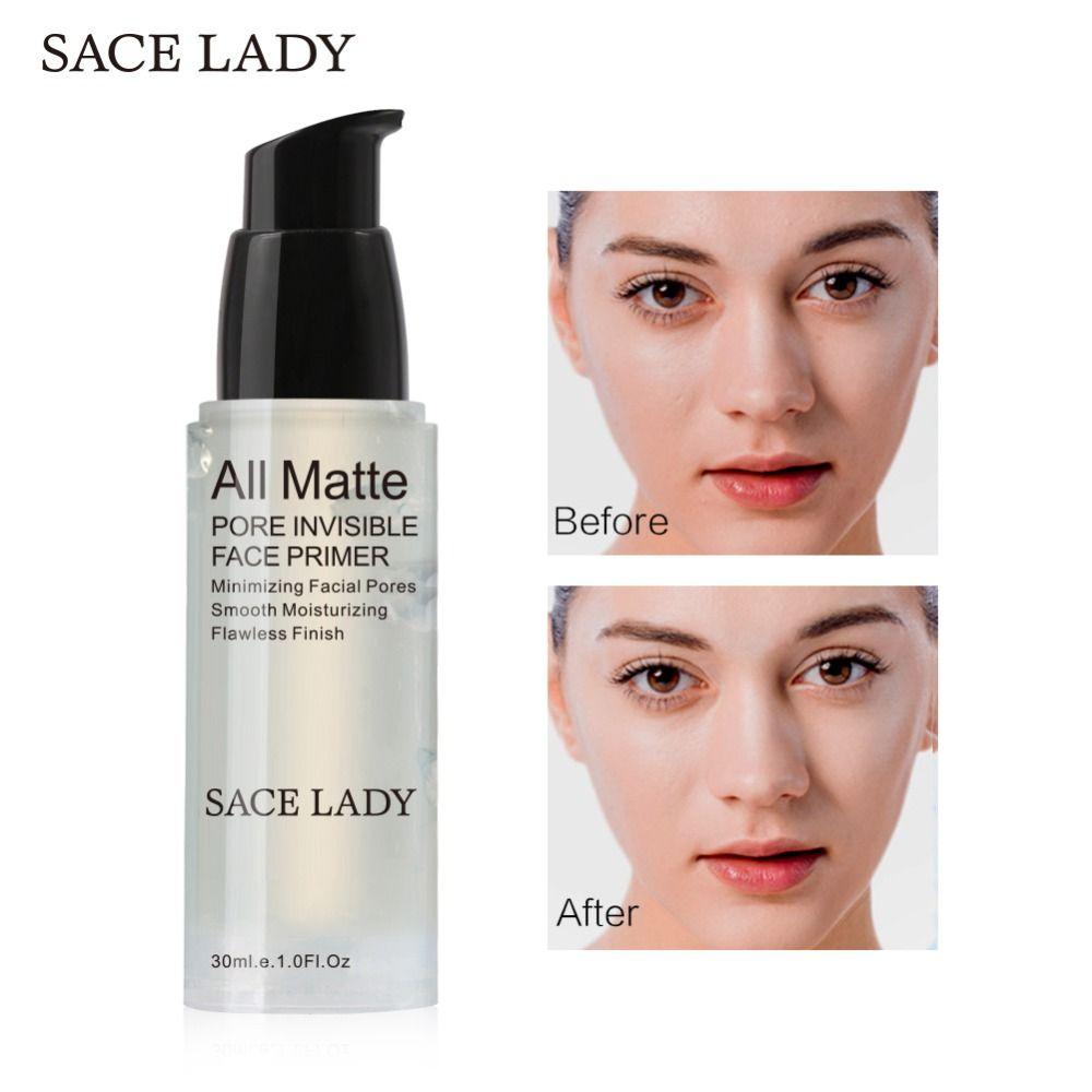 SACE DAME Visage Base Amorce 30 ml Maquillage Naturel Mat Pores Invisibles Prolonger Maquillage fond de teint Gel Huile-contrôle cosmétique