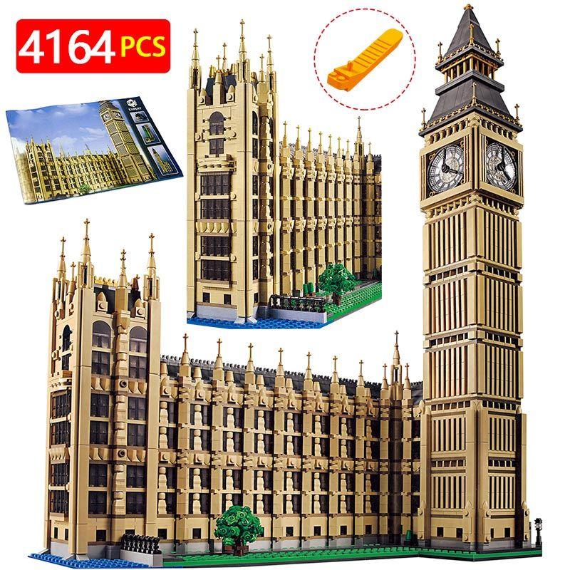 Technic Building Blocks Compatible LegoINGlys Architecture Big Ben City Street View Series World Large Famous House 4164 Pcs