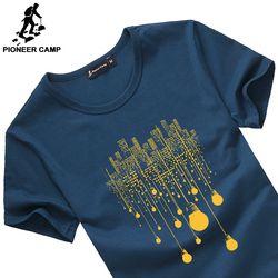 Camp pionnier mode d'été courtes t shirt hommes marque vêtements coton confortable mâle t-shirt impression t-shirt hommes vêtements 522056