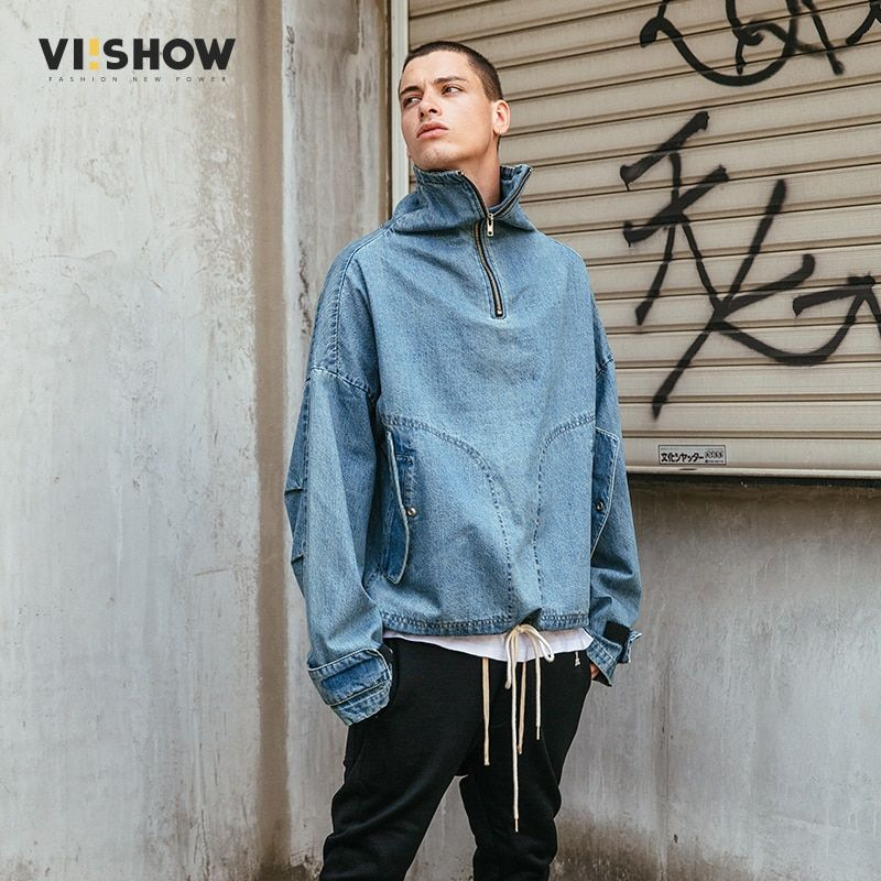 VIISHOW 2018 New Arrival Denim Jacket Men Fashion Brand Clothing Jeans Jackets Male Winter Casual Clothing Oversize JC1863173