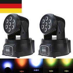 9/14 Canal Partie Disco Spectacle 100 W AC 100-240 V Son Actif De Noël Décorations DMX-512 Mini Tête Mobile RGBW LED Stage de Lumière