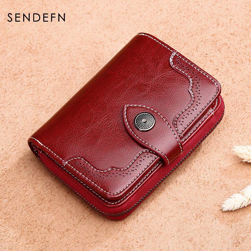 Sendefn 2017 Новый бумажник женщины кошелек бренд Портмоне кошелек на молнии женские короткие бумажник женщин сплит кожаный кошелек маленький к...