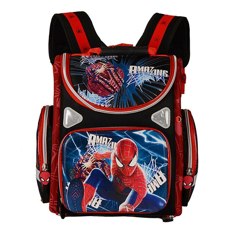 Ортопедические дышащий детская школьная сумка для Обувь для девочек Бабочка школа Рюкзаки ребенок мультфильм Человек-паук для мальчиков Р...