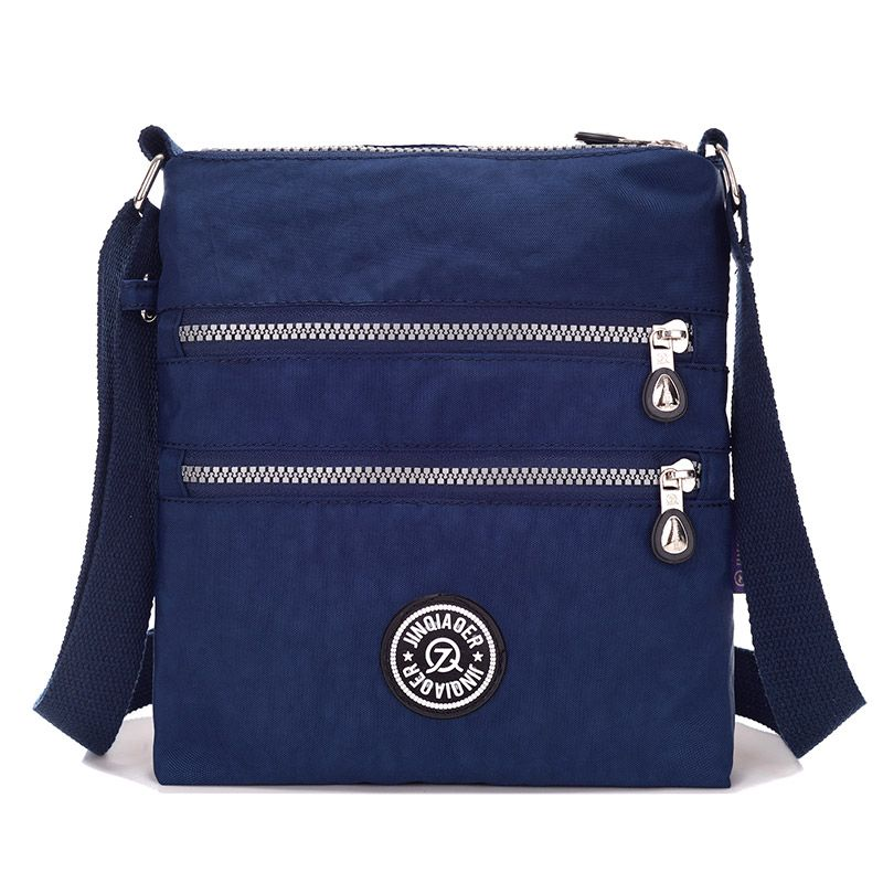 Petit sac en Nylon pour femme sac à bandoulière étanche Double couche sac à bandoulière pour Iphone Bolsa
