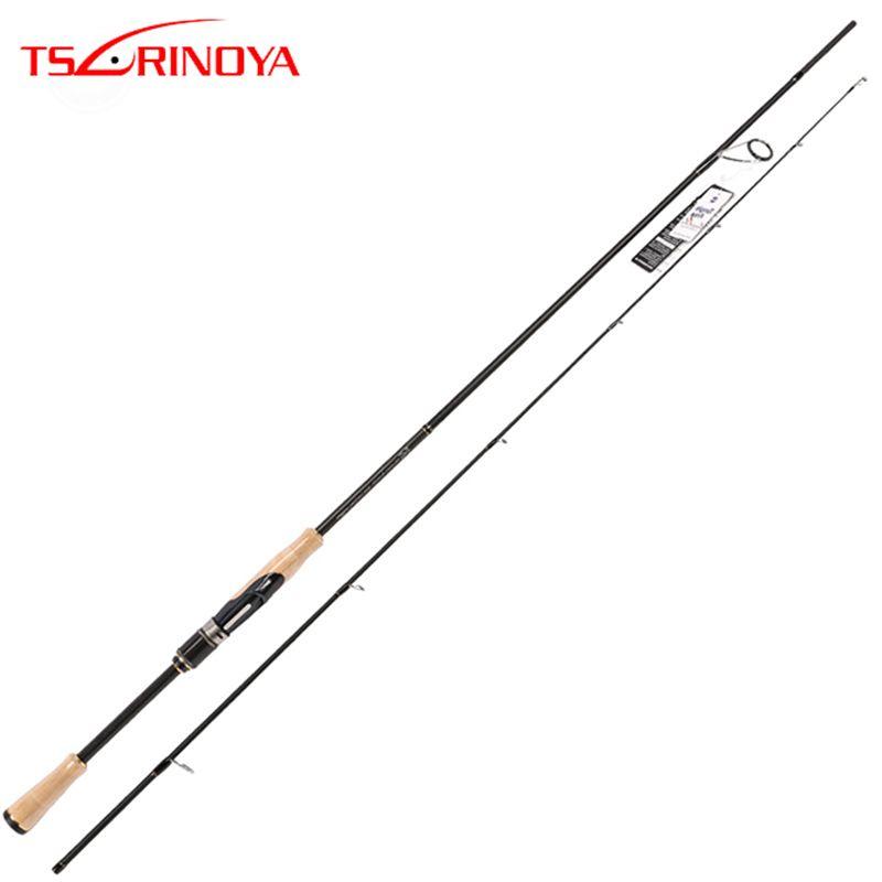 TSURINOYA PROFLEX II Spinning Fishing Rod 2.01m 2.13m 2 Section Spinning Rod ML/M Power Canne A Peche Carbon Fishing Pole