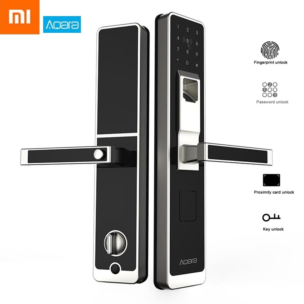 Original Xiaomi Aqara Smart Door Touch Lock Zigbee Connection for Home Security Anti-Peeping Design Supports iOS Android