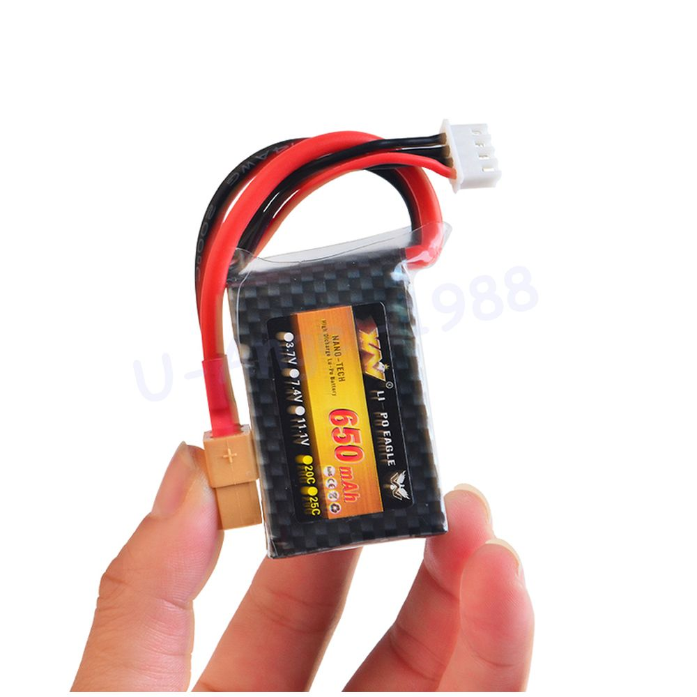 Wholesae 1pcs Rc Lipo Battery 11.1v 650MAH 25c 3S For Nine Eagle 250 mini fixed-wing RC Helicopter Car Boat quadcopter