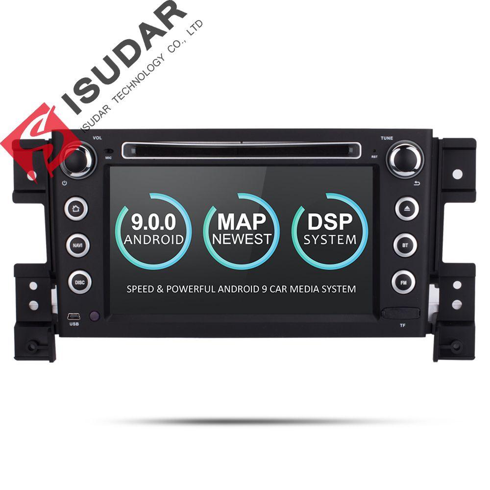 Isudar Autoradio Für SUZUKI/Grand Vitara Auto Multimedia player Android 9 2 Din DVD player GPS 4 Core RAM 2 GB ROM 16 GB FM Radio